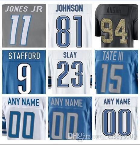 0c25afd18 2018 Detroit Barry Sanders Jersey Lions Custom A Shawn Robinson Women  Johnson Authentic Sports Youth Kids American Football Jerseys 5xl Usa  Custom Jersey ...