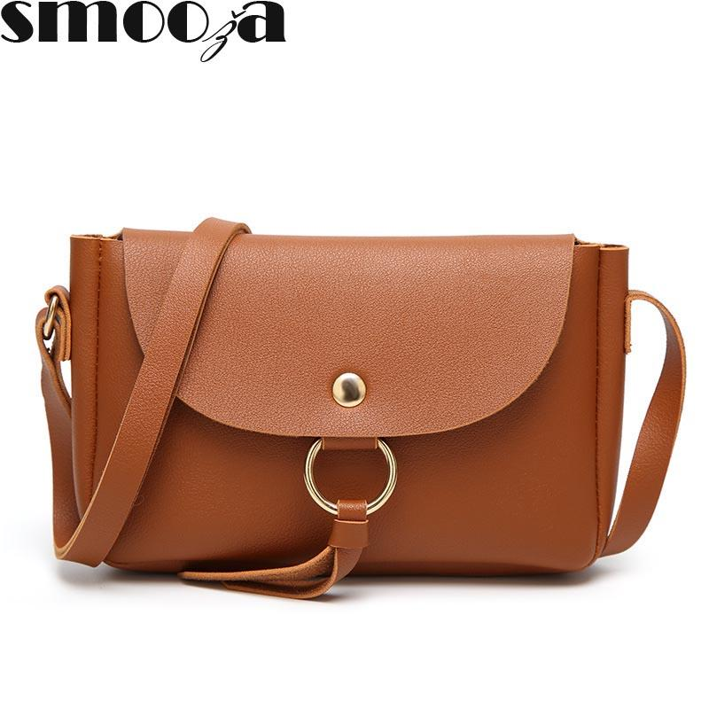 SMOOZA New Fashion Shoulder Bag for Lady Design Women Bags PU Leather Women  Messenger Bags Fashion Casual Style Cross-body Bag Bags for Ladies Designer  ... c5984a9882ad7