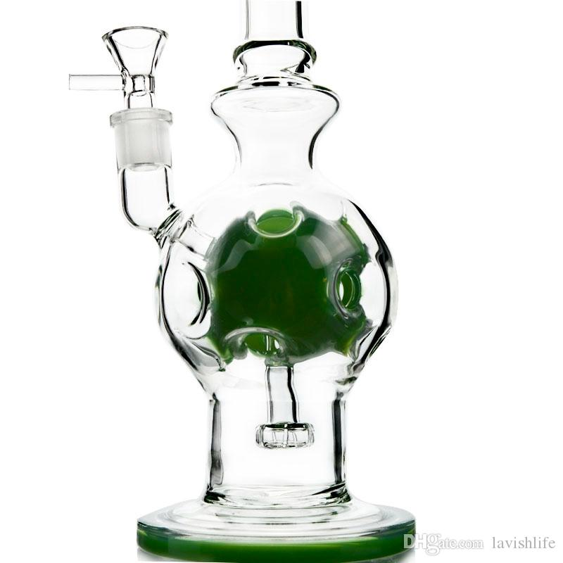 Heady Glass Fab Egg Forme Glass Bong Pomme de douche Swiss Perc Recycler Dab Rigs avec Bowl WP510