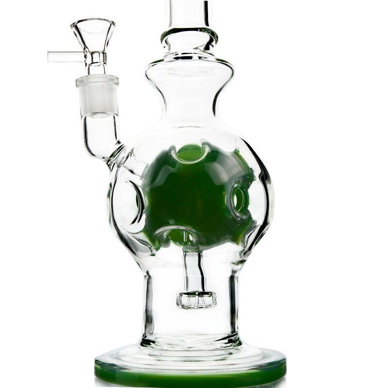 Heady Glass Fab Egg Shape Glass Bong Soffione Swiss Perc Recycler Dab Rigs con ciotola WP510