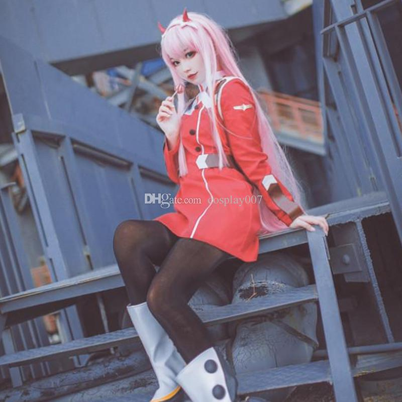 Zero Two Cosplay Costumes Red Dress Japanese Anime Darling In The Franxx Clothing