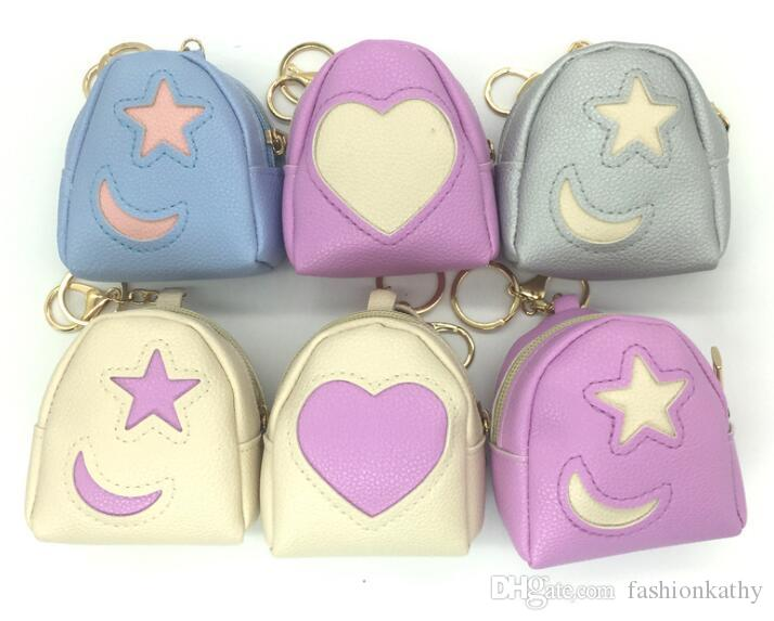 334a02595d21 New Beautiful Heart Star Moon Style Womens Wallets Holders Party Home Coin  Purses Gifts Heart Star Moon Wallets Coin Purses Online with  4.7 Piece on  ...