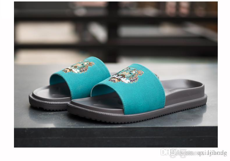 04bd2033c BEST QUALITY MEN Women Designer Slippers Slide Summer Korean Fashion Wide  Flat Slippery With Thick Sandals Slipper House Stud Flip Flop Discount  Shoes ...