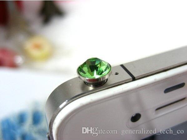 2018 New Mobile Universal Diamond Diamond Dust Plug 3.5mm Universal Headphone Ear Studs Dust Plug Wholesale