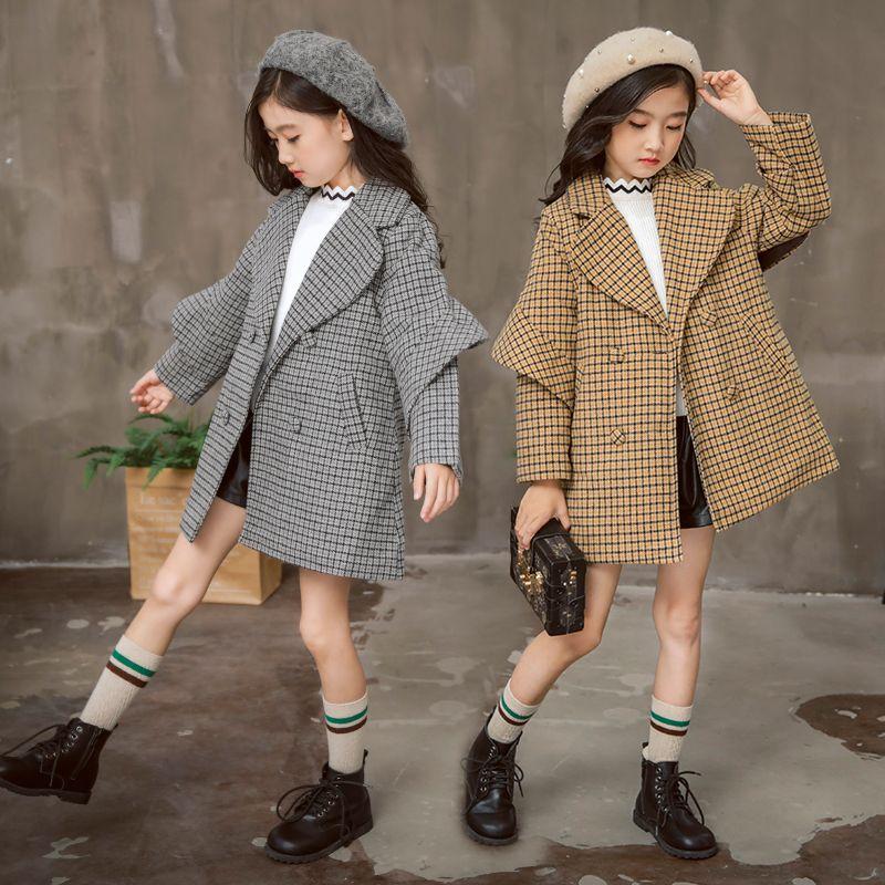 c64b8da0d081 4-13 Year Old Girl Woolen Coat 2018 New Korean Long Section ...