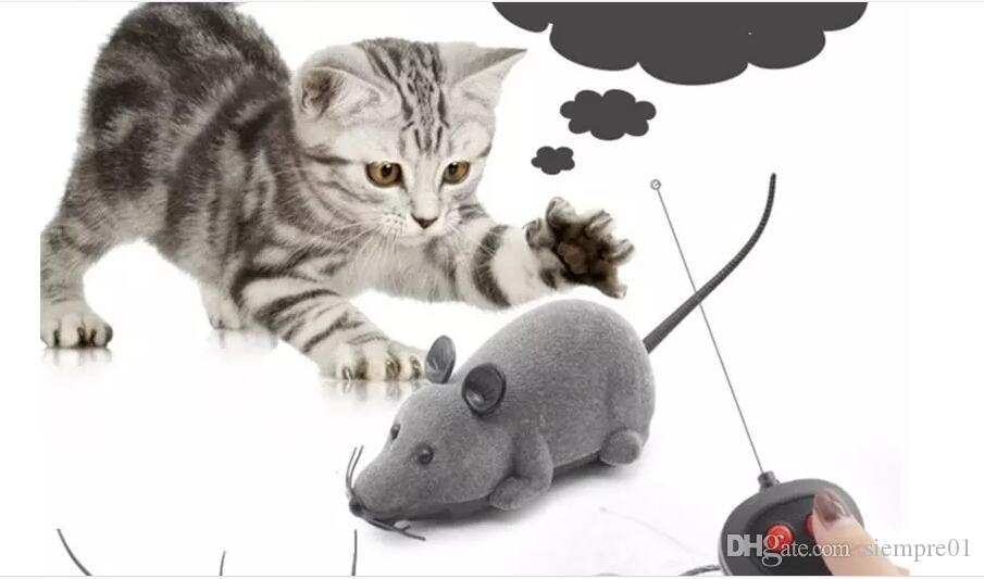 Cat Intelligence Toy Wireless remote controller Electric Power Movable Plastic Lifelike Flocking Simulation Mouse Car Pet Toys