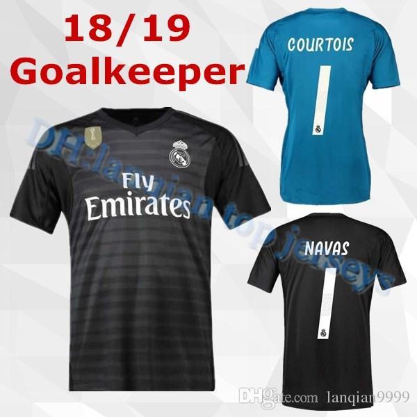 9d2fd03acb Acheter 2019 Maillot De Gardien De But Du Real Madrid Maillot De Foot NAVAS  MODRIC RAMOS MARCELO BALE ISCO Camiseta 18 19 Real Madrid Gk Courtois  Maillots ...
