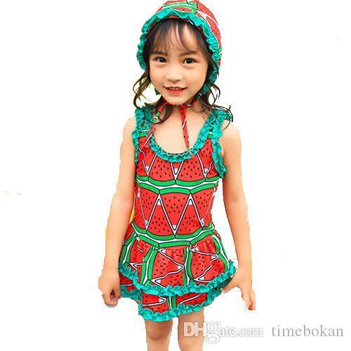 df42e73674b 2019 Baby Girl Swimsuit Children Swimming Watermelon Strawberry Astronaut  Girls One Piece Swimwear Kids Swimsuit Swim Cap From Timebokan, $8.21 |  DHgate.Com