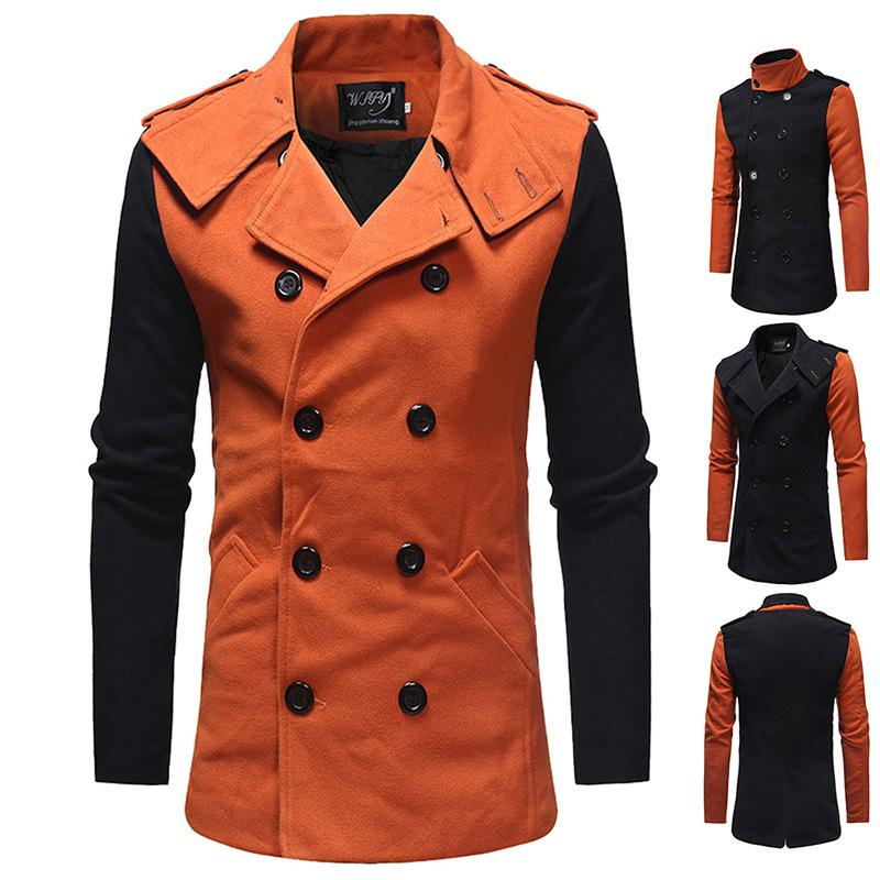 37dea419d83 2018 Mens Trench Coat 2018 New Fashion Designer Men Long Coat Autumn Winter  Double Breasted Windproof Slim Trench Men Plus Size From Cety