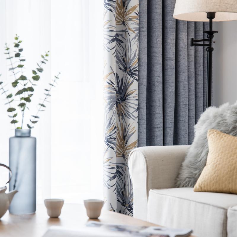 Rideau fini simple moderne chambre salon frais abat-jour baie vitrée  américain nouveau style nordique crochet