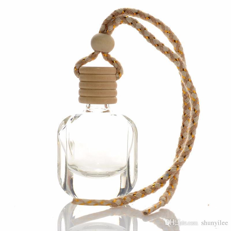 10ml mini portatile bottiglia di profumo riutilizzabile bottiglia di profumo di vetro vuoto olio essenziale portare bottiglia regalo ciondolo auto f20172951