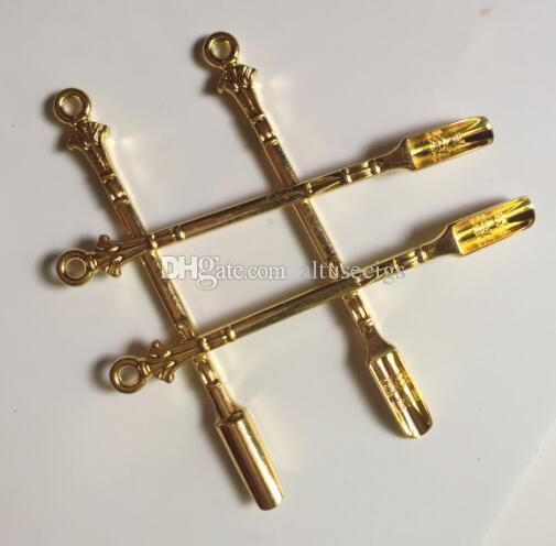 جديد الذهبي dabber dab الشمع أداة الجاف عشب المرذاذ أداة dab الحفارات المعادن ملعقة استخدام ل الشم الفخم hover hover