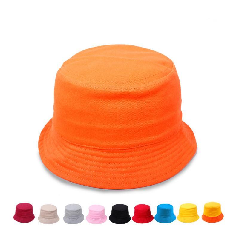 Compre Niños Cubo Sombreros Llanura Primavera Verano Niños Sol Sombrero De  Pesca En Sol Niñas Niños Pescador Sol Cap Muchos Colores A  2.39 Del  Shunhuico ... 395bbe44f74
