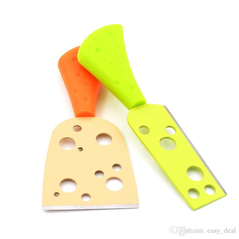 /Sets Color Cheese Food Stainless Steel Baking Tools Color PP Handle Stainless steel Cheese Pizza Cutter Gift F20173045