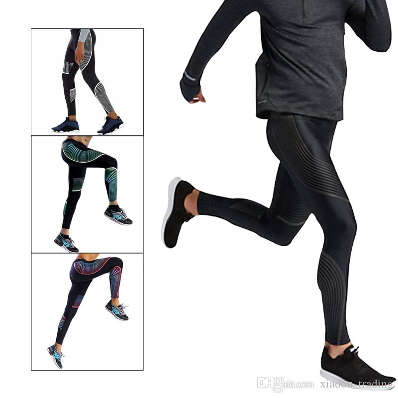 cheap prices reasonable price new release 2018 Quick Drying Running Leggings Men Compression Streamline Printed  Skinny Pants Gym Tights Basketball Bodybuilding Fitness Leggins