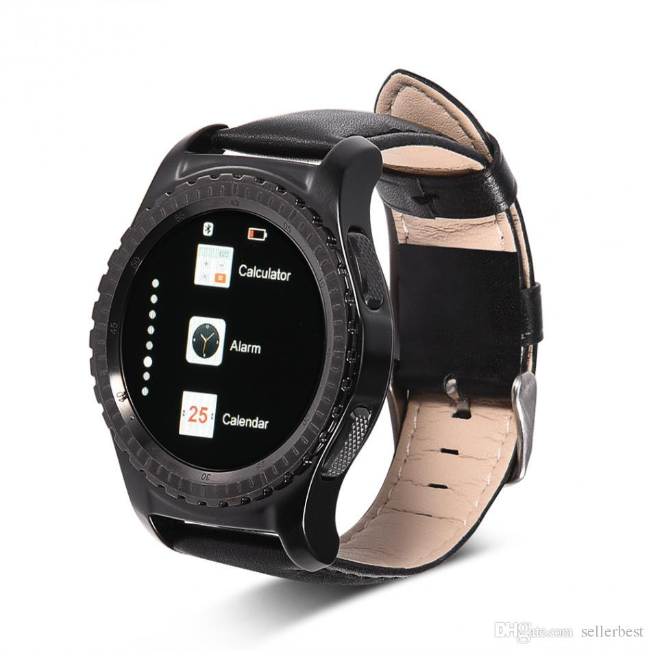 KW28 Smart Sport Bluetooth Watch Supporto SIM Card cardiofrequenzimetro LCD Touch Screen LCD universale telefoni IOS / Android