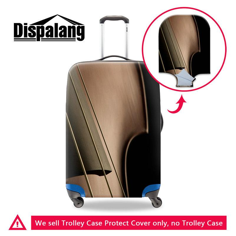 Piano Guitar Design Women Portable Trolley Cover Travel On Road Luggage Protective Cover Case For A Suitcase Dust Rain Covers For 18-30 Inch