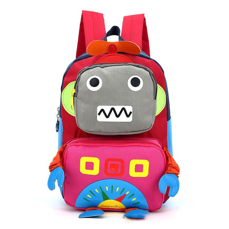 9ce6ac80ad 2018 3D Cartoon Robot Children Backpacks Kids Kindergarten Backpack Child  School Bags Satchel For Baby Boys And Girls Mochila Durable Cute Backpacks  Student ...