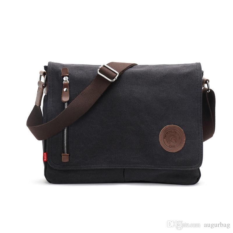 Free Dhl Fashion Shoulder Backpacks Man Women Vintage Canvas Satchel  Messenger Laptop Shoulder Crossbody Sling Bag fb3c091f1d