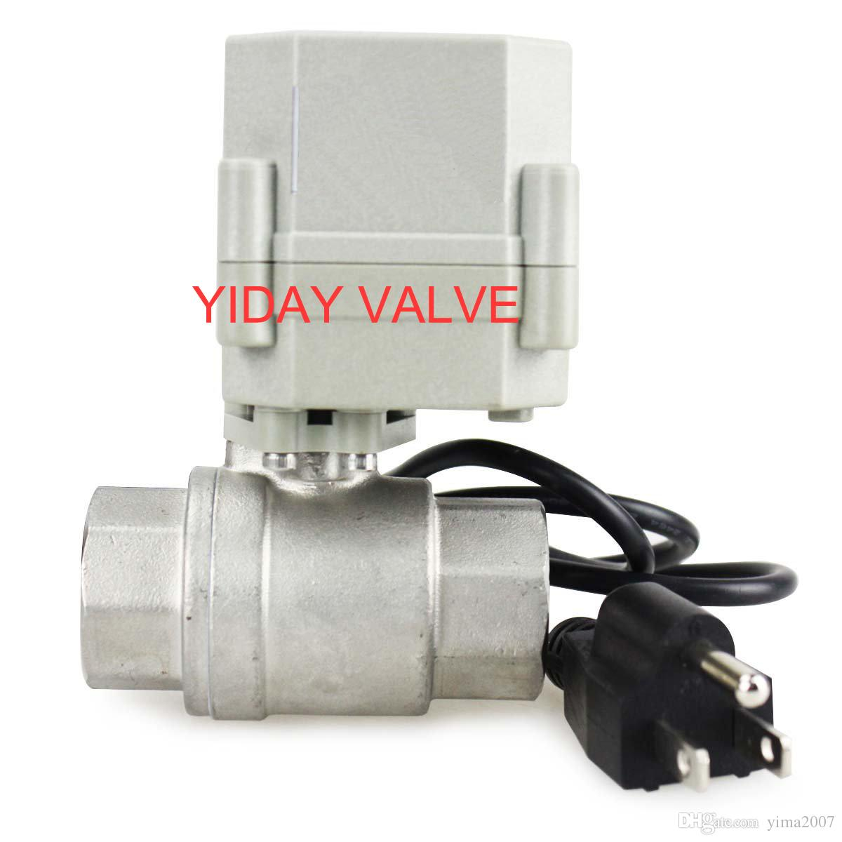 "High quality 1/2'',3/4"" 1'' 110V/220V NC Motorized Ball Valve, NO/NC 2/3 Way BRASS/SS 1/2""-1"" Available"