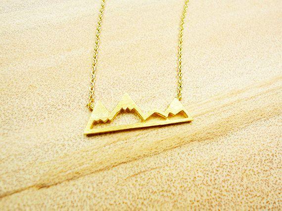 بسيط ثلجي قمة الجبل قلادة الطبيعة المناظر الطبيعية عرض وادي كانيون عظم الترقوة يدويا المجوهرات هدية للنساء
