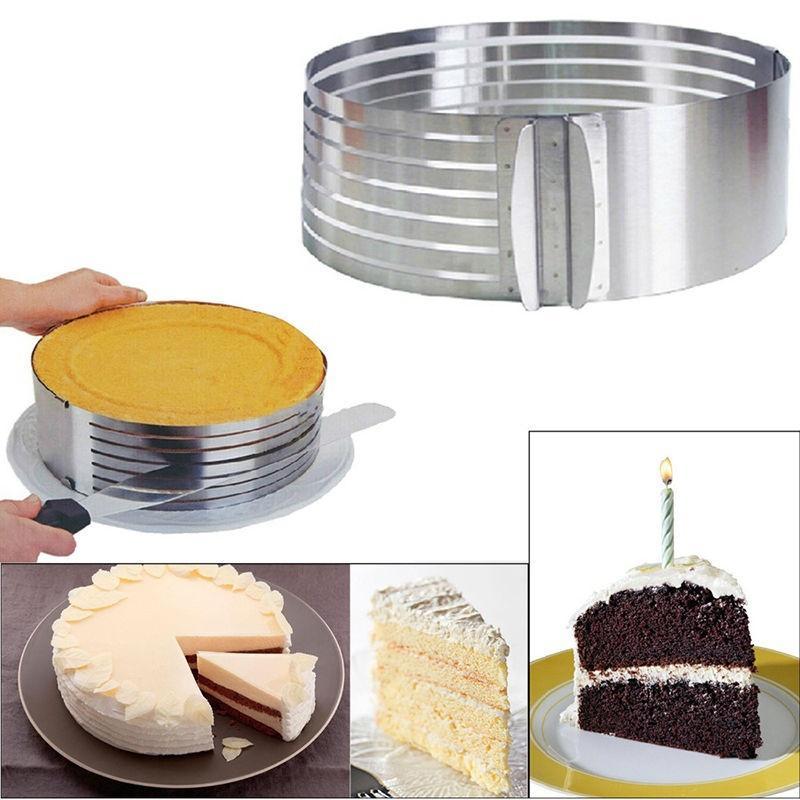 Grosshandel 1 Stuck Einstellbare Edelstahl Layer Cake Slicer Kit