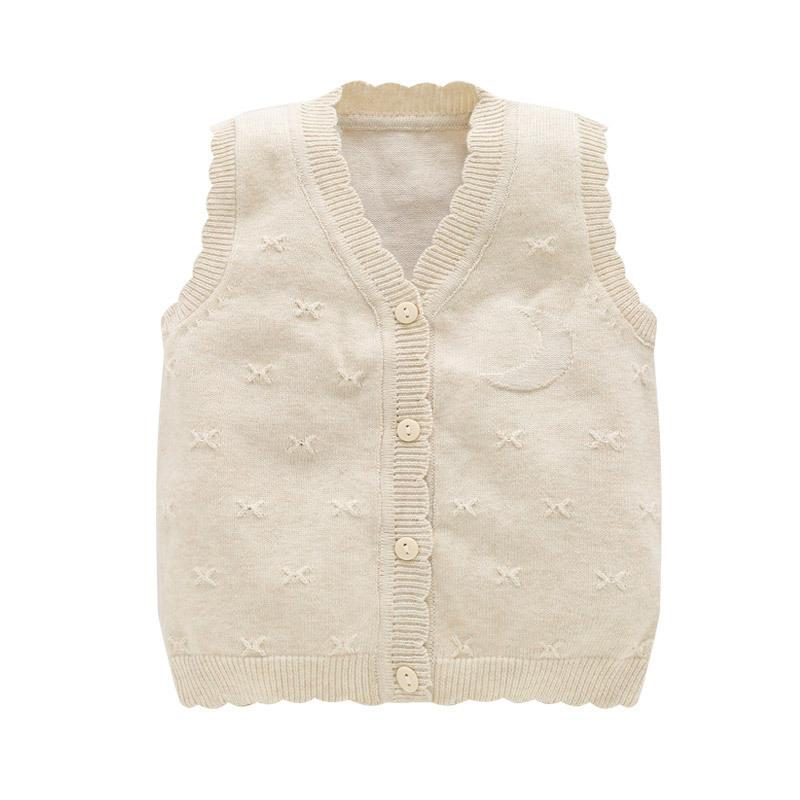 c493283d57eb Baby Boy Sweater Cotton Knitted Vest V Neck Sleeveless For Girls ...