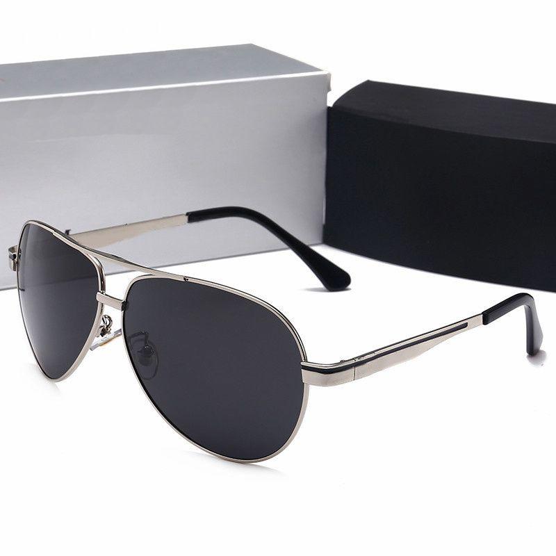 5cfb9ab8eea63 Luxury Brand Designer Man Sunglasses with Box Fashion Metal Frame Men Oval  Polarizing Glasses Drive Traveling Sunglasses with Original Case Brand  Sunglasses ...