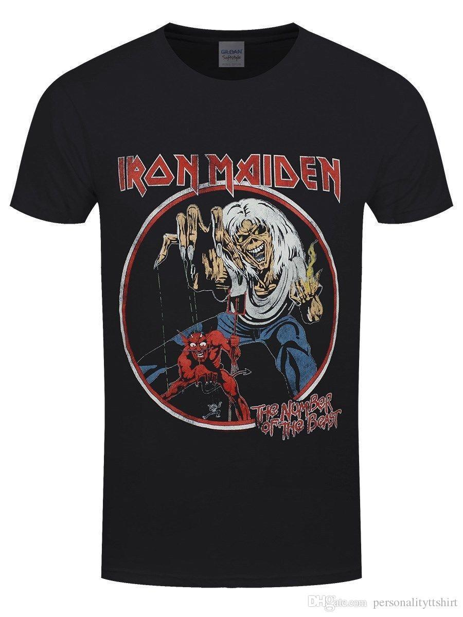 1ebd0b24 Iron Maiden Number Of The Beast Vintage Men'S Black T Shirt Very ...