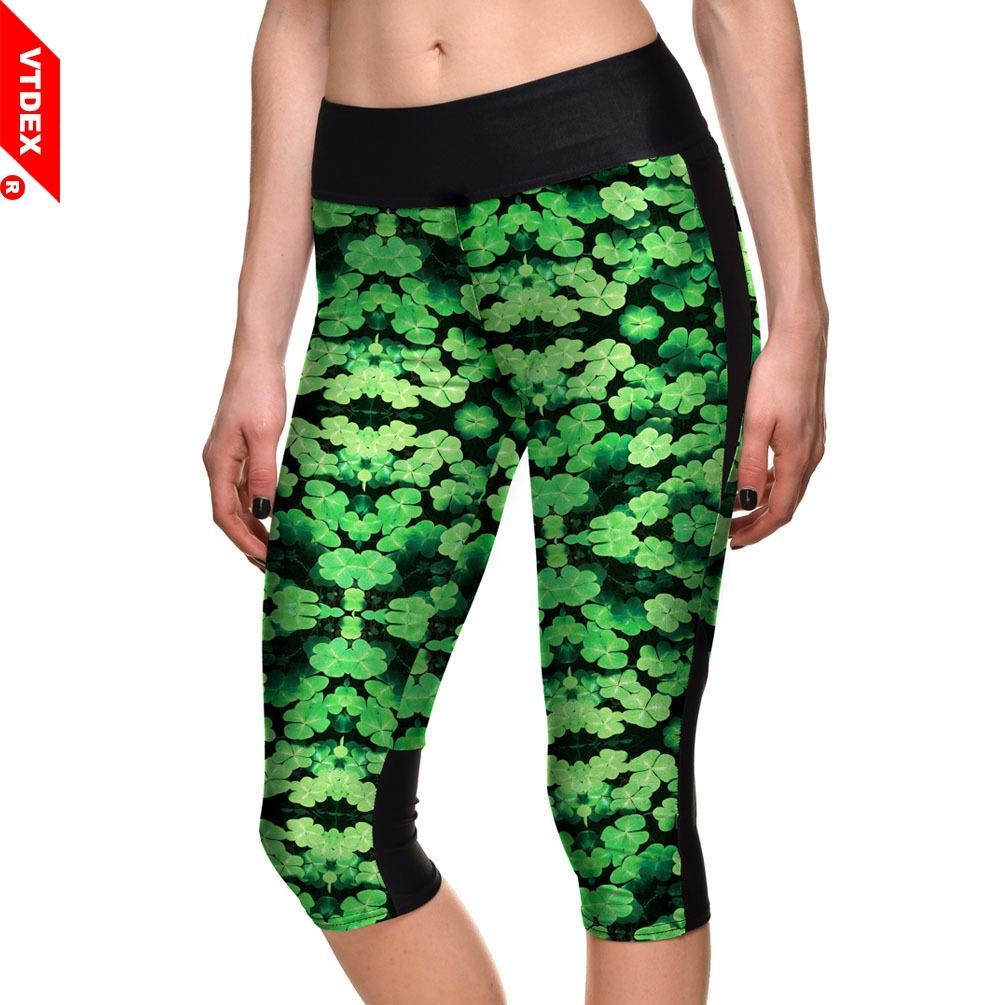 Acheter Pantalon De Yoga Imprimé Floral VTDEX Capri Femmes Mince Élastique  Art Legging Sport Serré Actif GYM Pantalon Fitness Danse Pantalon Maigre De  ... 57f0d05c64b