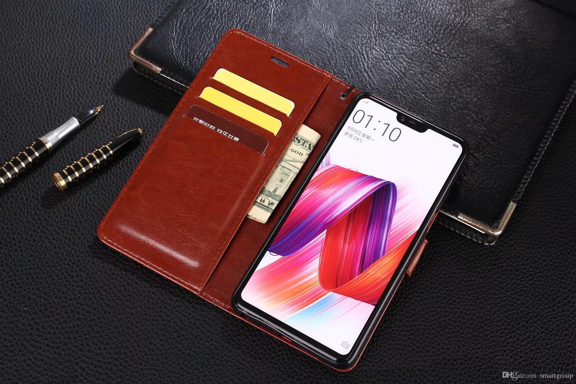 buy popular abae3 6e1be For OPPO R15 Case Purse Clip Flip Wallet Cover Luxury Hot Original Stand  Leather Case For OPPO R15