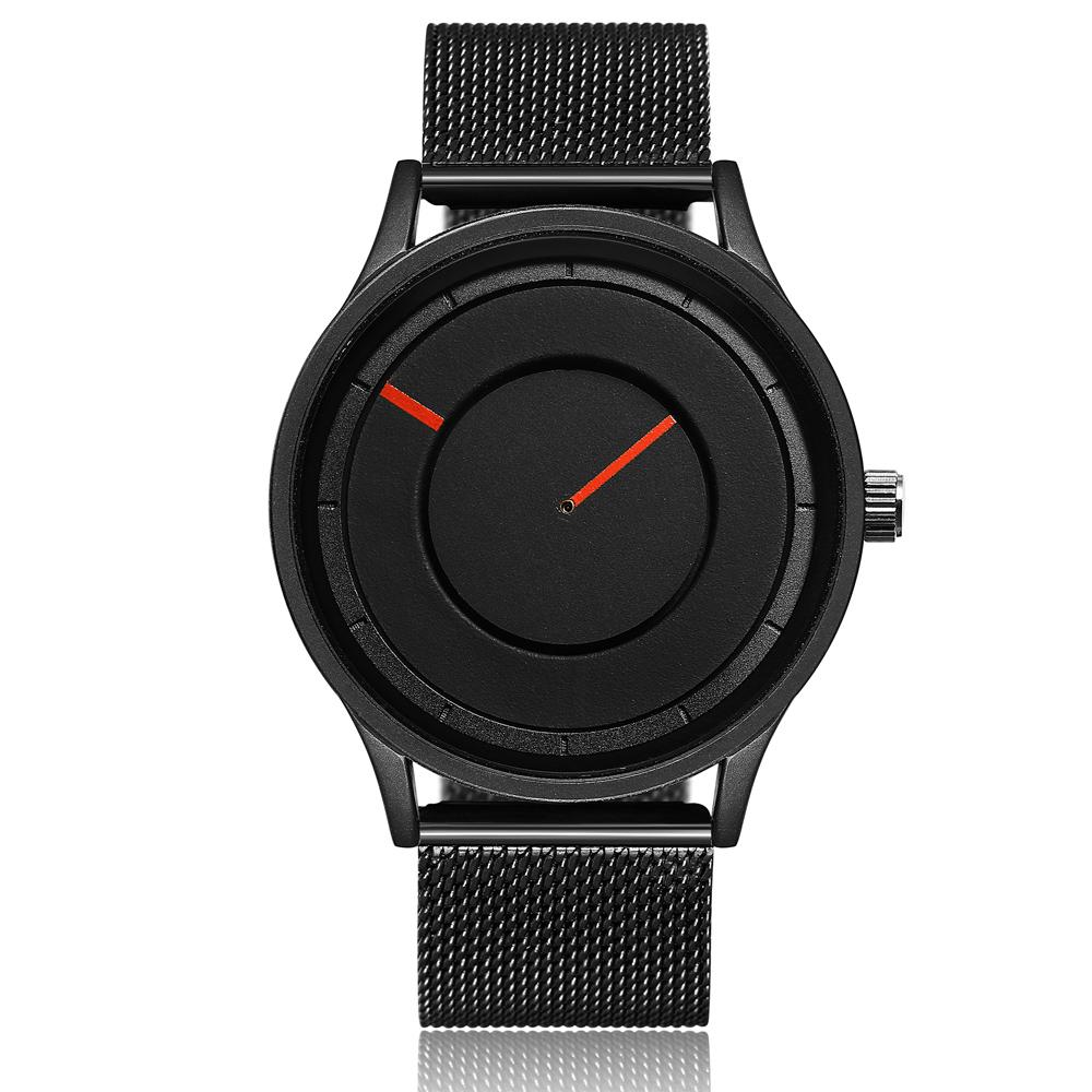 cbef4626e86f Compre Reloj De Pulsera De Malla De Acero Inoxidable Para Hombre Negro Reloj  De Pulsera De Cuarzo Exclusivo Para Mujer Sin Correa De Segunda Mano A   30.45 ...