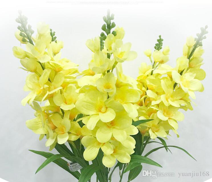 Satın Al 2019 Yeni Yapay çiçek Ev Dekorasyon Ipek çiçek Tek çiçek
