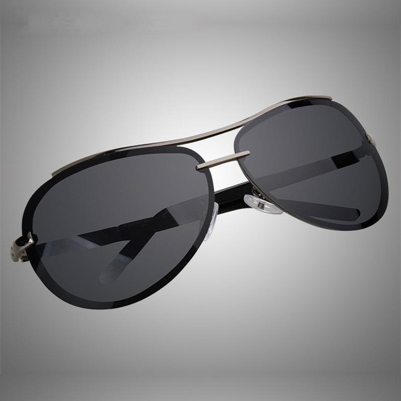 87ad429687 Compre Cubojue 160 Mm Sin Montura Gafas De Sol Polarizadas Hombres De Gran  Tamaño Rana De Aviación Gafas De Sol Negras Para Hombre Conduciendo Gafas  De Sol ...
