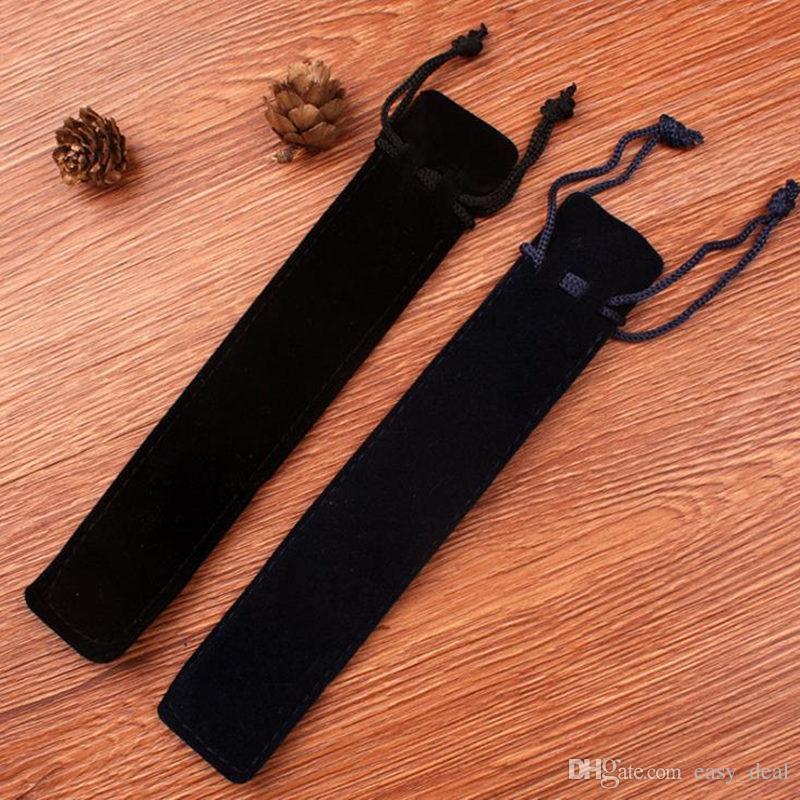 롤러 볼 / 분수 / 볼펜에 대 한 로프와 벨벳 펜 파우치 홀더 단일 연필 가방 펜 케이스 F20173062