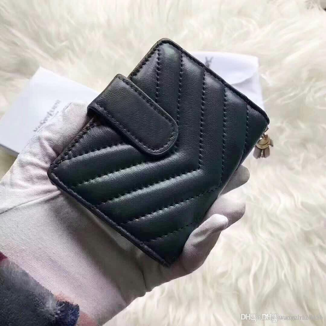 fb106f0fc980 AAAAA Genuine Leather Card Holder Women Mini Card Wallets 2018 Brand  Designer Bag ID Credit Card Case Small Coin Purse For Ladies Cheap Wallets  Zip Around ...