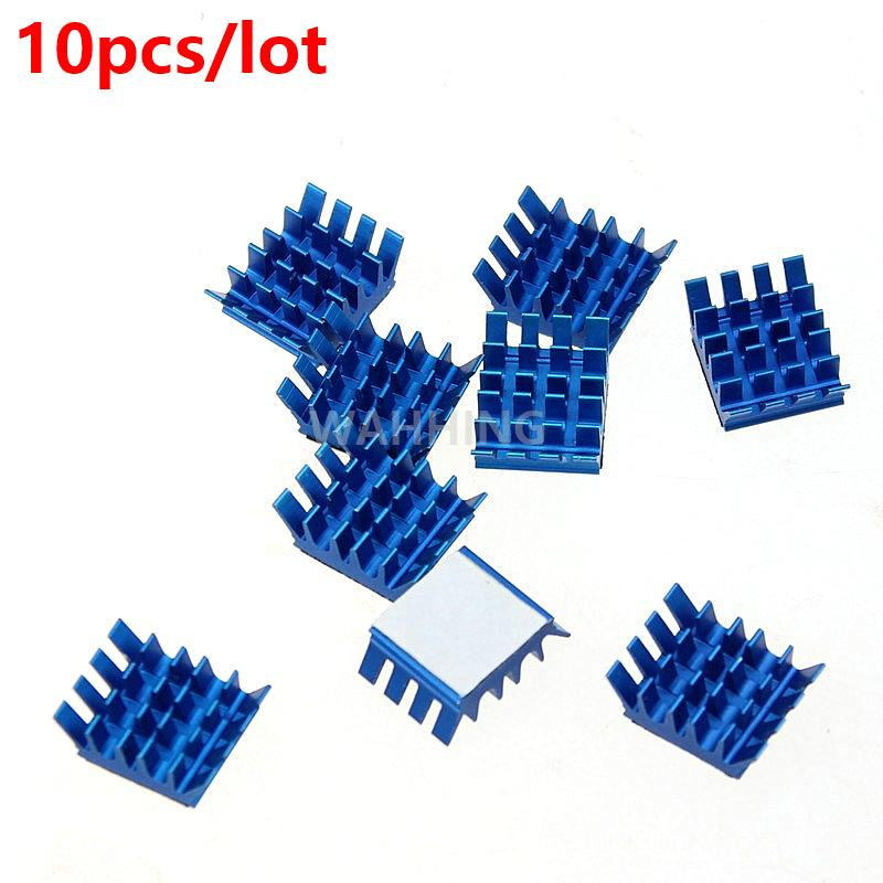 10pcs Computer Cooling Fin Radiator Aluminum Heatsink Heat sink for Electronic Heat dissipation Cooling Pads 13*13*6mm HY1275*10