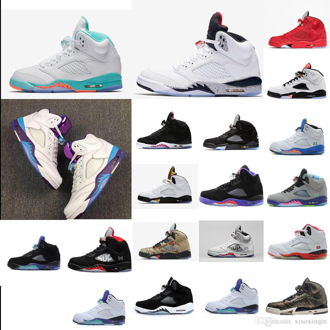 Cheap Womens Retro 5s Basketball Shoes For Sale Light Aqua White Gold Black  Oreo Red Boys Girls Kids AJ5 Jumpman J5 Sneakers Boots With Box UK 2019  From ... a5957695c