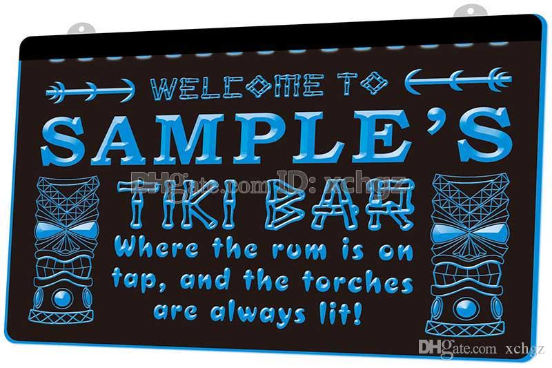 [F584] Name Personalized Custom Tiki Bar Beer NEW 3D Engraving LED Light Sign Customize on Demand 8 colors