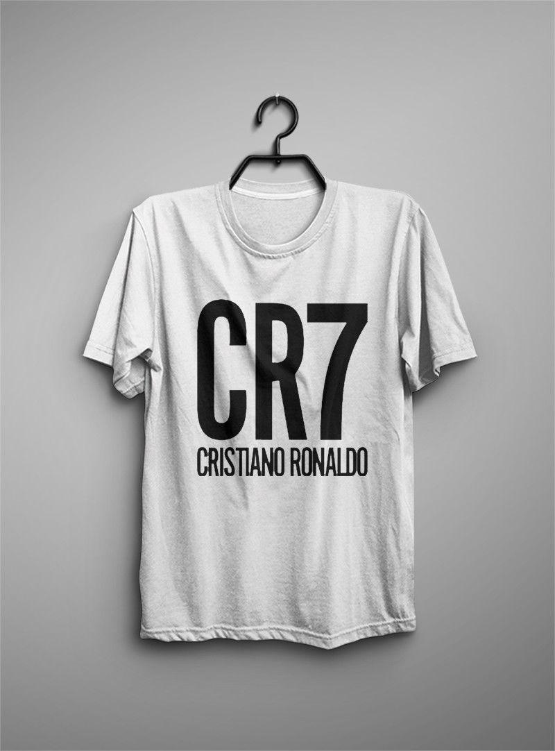 Compre Camisa Cristiana Ronaldo CR7 Camiseta Blanca De Fútbol 100% Algodón  Nueva Insignia De Ildan 2018 Camiseta Nueva Camiseta Estampada De Algodón  Para ... bb64de234aed0