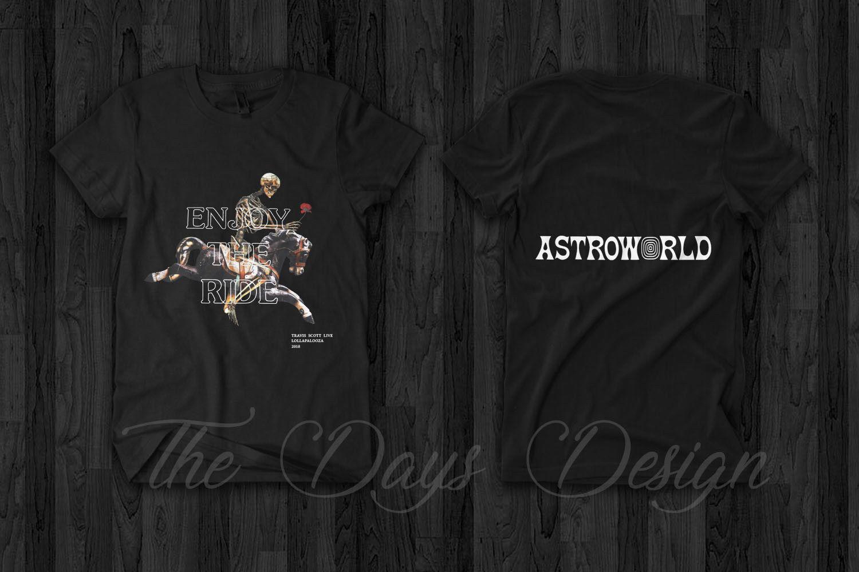 0bee712a195 Travis Scott Astroworld Merch 2018 Enjoy The Ride Official Logo Rodeo T  Shirt Mens 2018 Fashionable Brand 100%cotton Printed Round Nerd T Shirts  Design ...