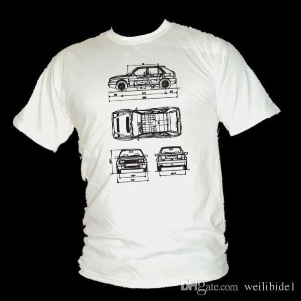 Lancia Delta Hf Integrale Rallye Legend Schaltplan Design T Shirt ...
