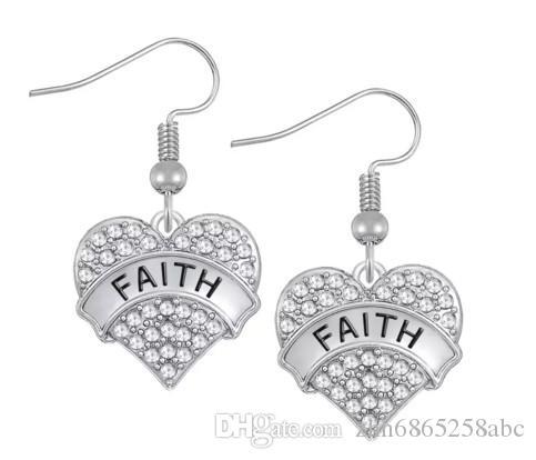 Aşk Kalp bilezik kristal İnanç Umut kadınlar için en iyi arkadaş bileklik