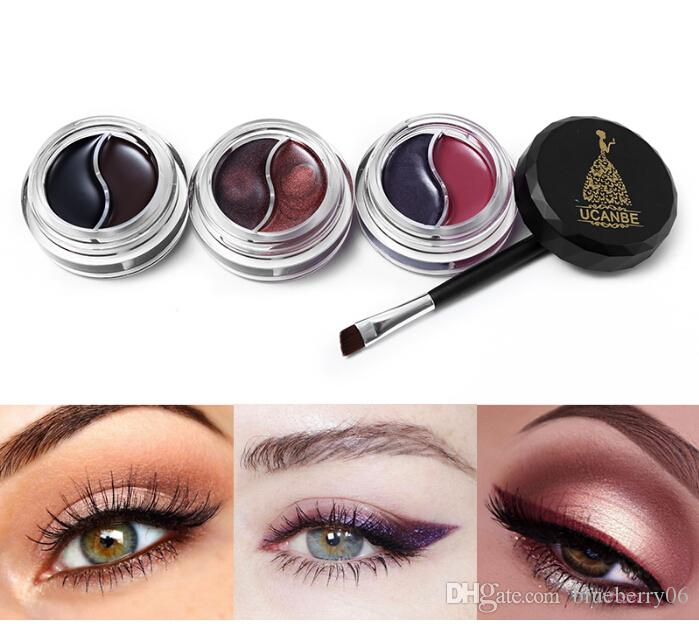 99b379e8fd1 Hot Brand Gel Eyeliner Makeup Palette Shimmer Matte Waterproof Lasting Not  Blooming Eye Liner Gel Cream With Brush Elf Makeup How To Apply Eyeliner  From ...