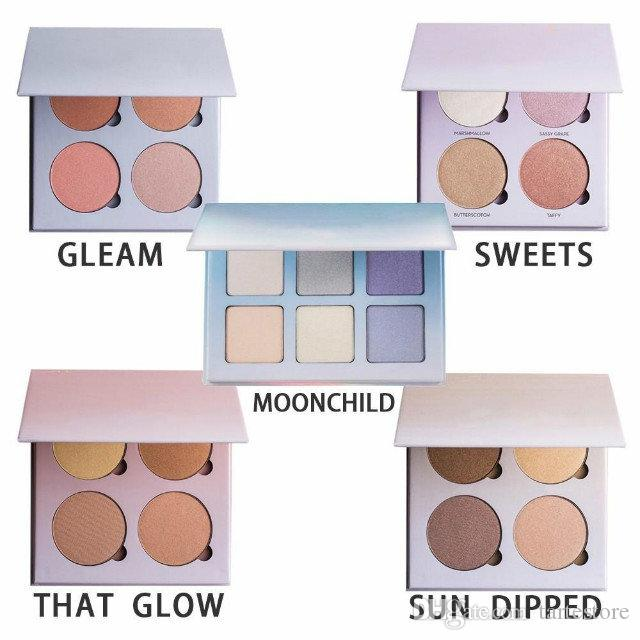 Highlight Eyeshadow Palette 4 Colors GLEAM/THAT/Sweets/SUN Makeup  Highlighter Palette Natural Cosmetics Free Shipping