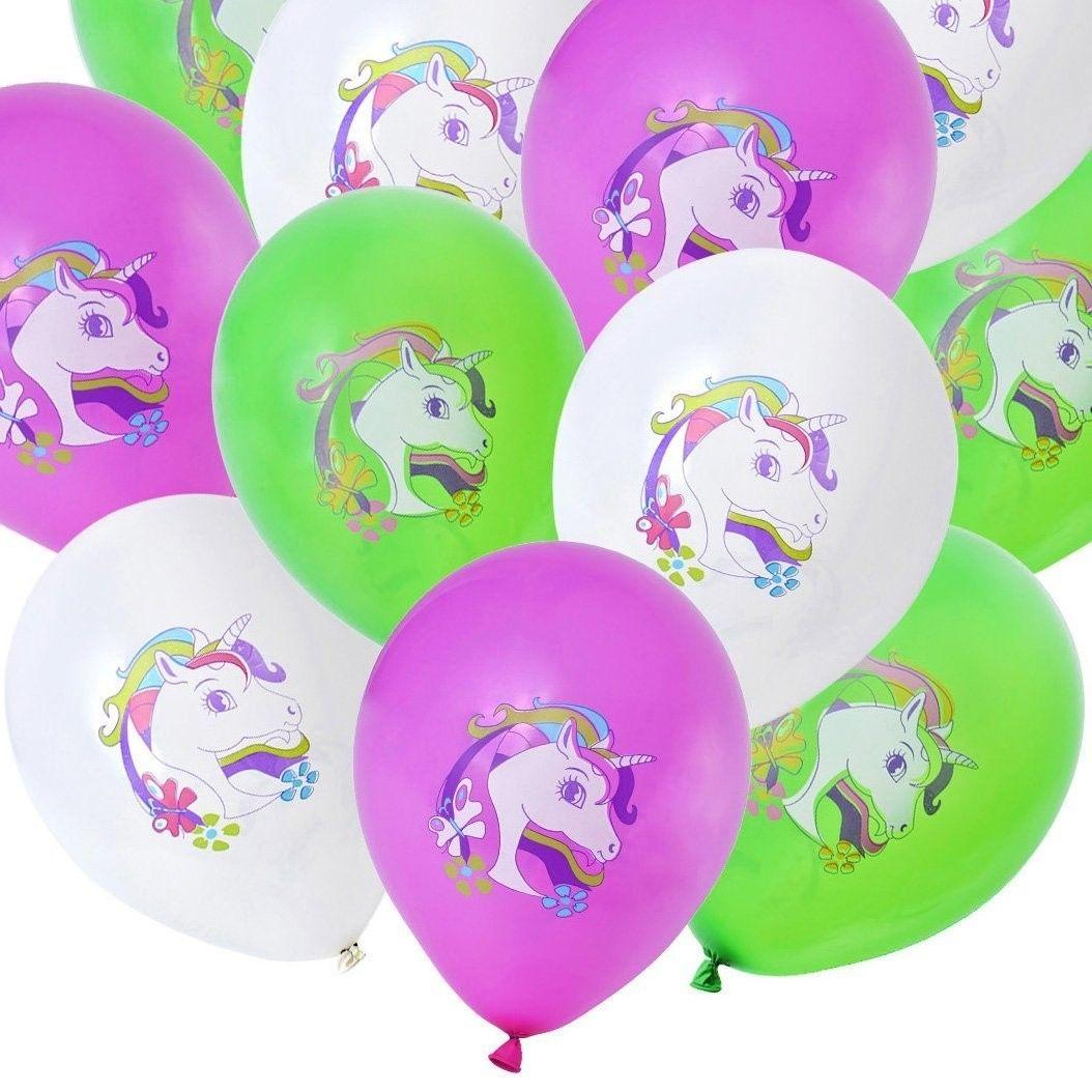 12inch Unicorn Latex Balloons Happy Birthday Party Decorations Inflatable Toys Kids Children Christmas Gifts GGA595 18th Helium Ballon Fest From