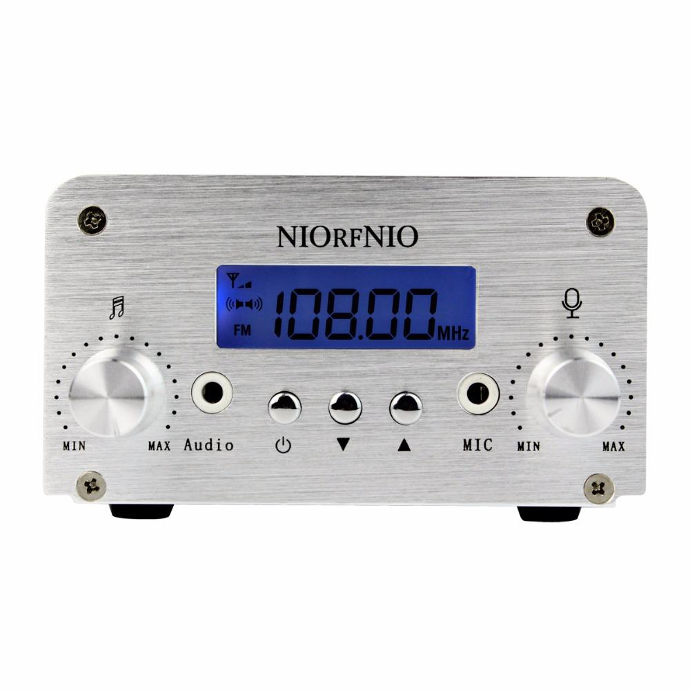 Niorfnio 1w 6w Pll Fm Transmitter Mini Radio Stereo Station Circuit With High Frequency Stability Free Electronic Broadcast Lcd Display Only Host For Y4339d Alarm Clock Music From Xanto