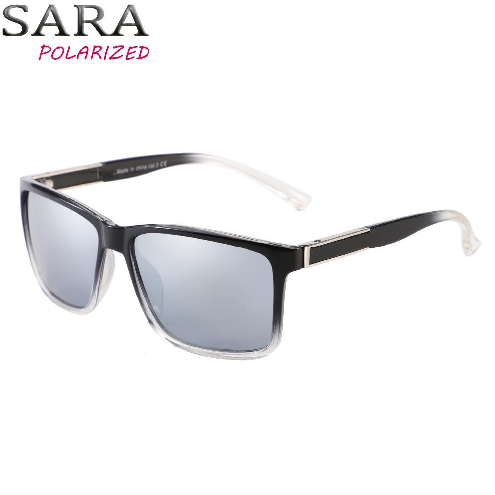 d19f061804f63 SARA Brand Design Polarized Sunglasses Men Driving Sunglasses Fishing Eyewear  Square Style Eyewear UV400 Gafas De Sol Masculino Sunglasses At Night  Lyrics ...