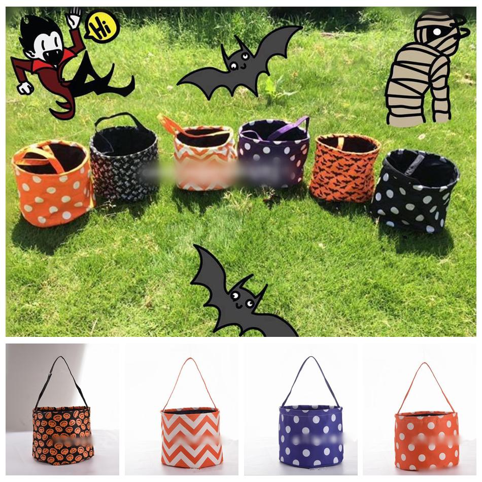 Stripe Halloween Buckets Bag 6 Styles Tote Trick Or Treat Candy Gift Party Decoration OOA5580 60th Birthday Decorations 70th