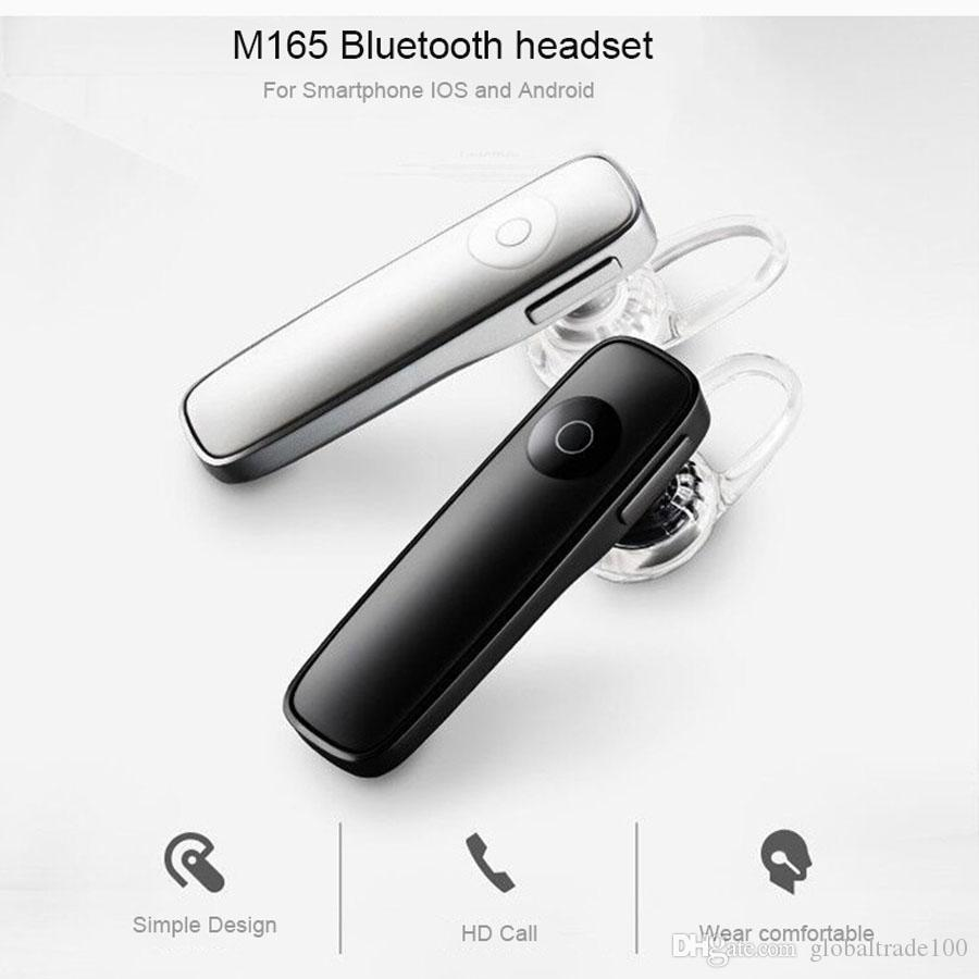 M165 Bluetooth 4.1 Headphones Wireless Earphone with Microphone Music Playing Volume Adjustable For iPhone 8 X Samsung S7 S8 S9